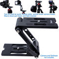 Metal Z-Shaped Folding Ball Head Quick Release Plate Vertical Camera Bracket Macro Shoot Pan Tilt Head for Tripod Ballhead