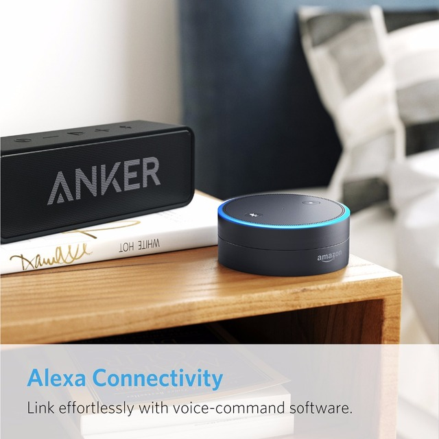 Anker Soundcore Portable Wireless Bluetooth Speaker with Dual-Driver Rich Bass 24h Playtime 66 ft Bluetooth Range & Built-in Mic 6