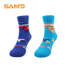 3 Pairs SANTO S071/S072 78% Cotton Outdoor Socks Kids Childrens Sports Quick Dry Spring Autumn Fit to Size 28-32