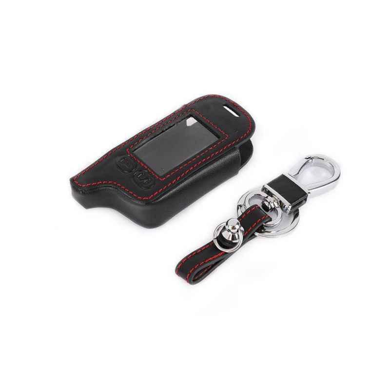 車のキーケース双方向革車スタイリングキーカバートマホーク TZ 9010 TZ 9030 LCD リモート