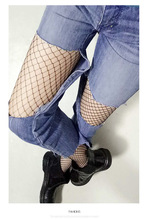 Party Hollow out sexy pantyhose female Mesh black women tights stocking slim fishnet stockings club party