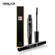 HENLICS 3D Fiber Lashes Mascara Black Thick Waterproof Curling Colossal Eyes France Big Eyes Make up Waterproof Eyes Cosmetics big eyes