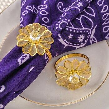 50pcs/lot crystal Diamonds Napkin Ring/Wrap Serviette Holder Wedding Banquet Party Dinner Table Decoration Home Decoration