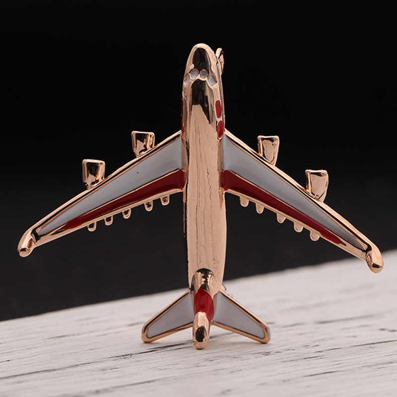Blucome Pernyataan Pesawat Bros Untuk Pria Perhiasan Enamel Emas-warna Biru Logam Bros Pin Fighter Pesawat Model Perhiasan