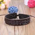 Free Shipping Hot 2017 New Mens Jewelry Fashion Men/Women Punk Bracelets Bangles Braided Leather Rope Retro Bracelet sa043