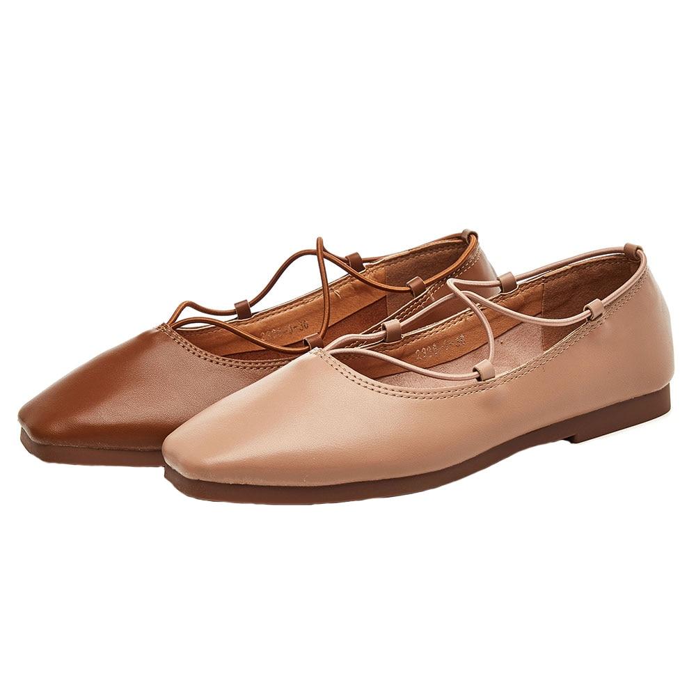 mère Jane Nouveau Mary 2018 Peu Bouche Sauvage Simples Femmes Grand Plat Chaussures Femelle Ardoisé Profonde kaki Rétro ABIORwIYq
