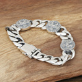 Wholesale manufacturers S925 Mens handmade sterling silver jewelry silver silver Harley Eagle Bracelet