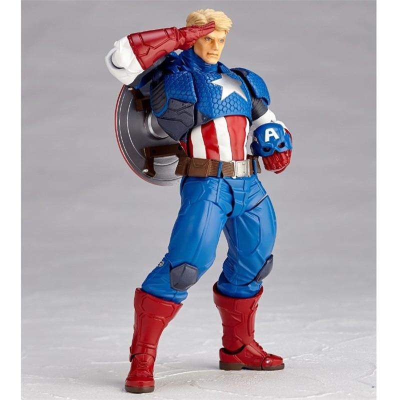 Revoltech Amazing Red Venom Carnage Amazing Captain America Spiderman Magneto Wolverine X-men Action Figures Toy Doll (7)