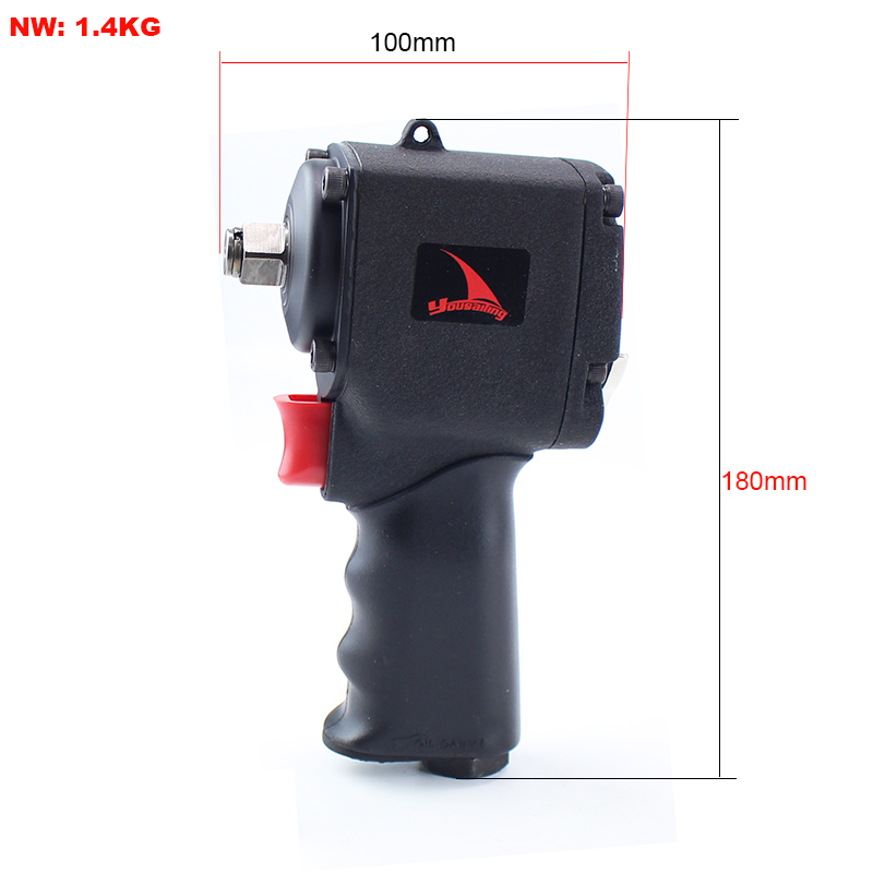 YOUSAILING 1/2 High Quality 500N.m Mini Pneumatic Impact Wrench Car Repairing Impact Wrench Tools Auto Spanners 11000 R.P.M