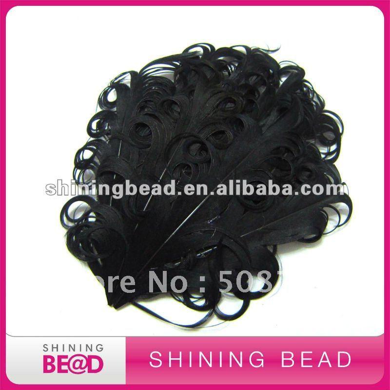 Черный перо вьющиеся pad