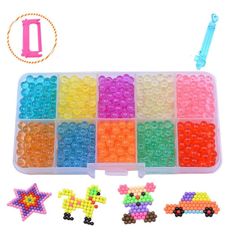 2018 Aqua Beads Water beadbond Aquabeads children's educational toys DIY Magic Beads puzzle Packed magical water beados