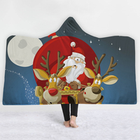 Drop Ship Home Textile Fashion Deer Elk Christmas Fleece Blankets for Beds Mantas Soft Bed Cover Bedspread Santa Claus twin rugs