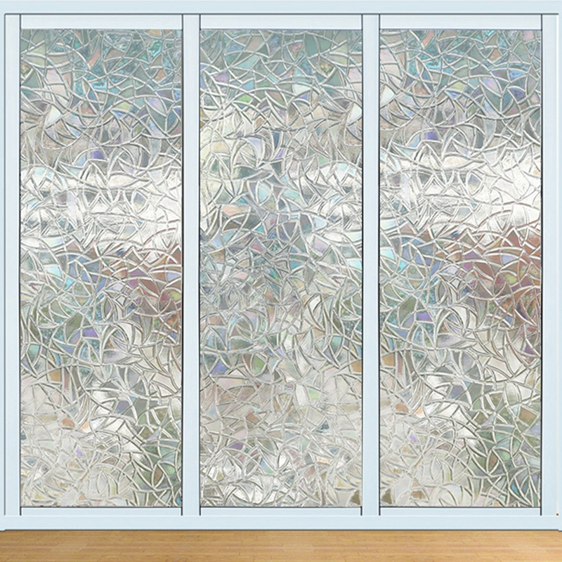 100cm*45cm Transparent Self-adhesive Wallpaper PVC Geometric Window Glass Door Stickers