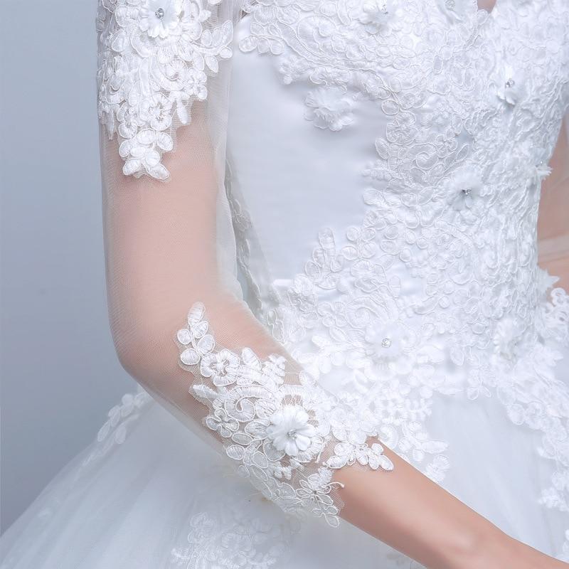 7c538d9b6c90 Lamya πραγματική φωτογραφία Princess Κομψά φορέματα γάμου με μακρύ ...