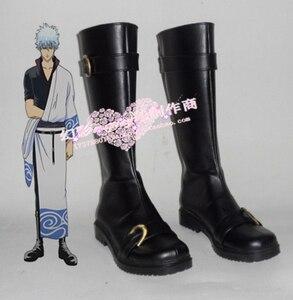 Аниме «Серебряная Душа» костюм Саката гинтоки сапоги черная обувь H016