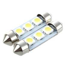 2X ampoule navette feston 3 LED 39MM CANBUS blanc(China)