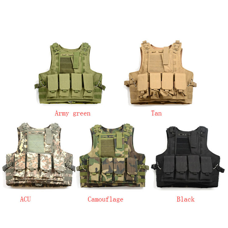 800D Oxford Multi Function US Army Tactical Combat Vest Airsoft Paintball Vest Miltary Armour Outdoor Hunting Security Uniform