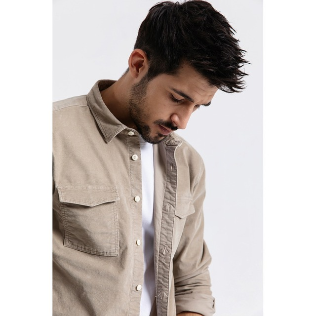 Men's Long Sleeve Shirts Casual Corduroy