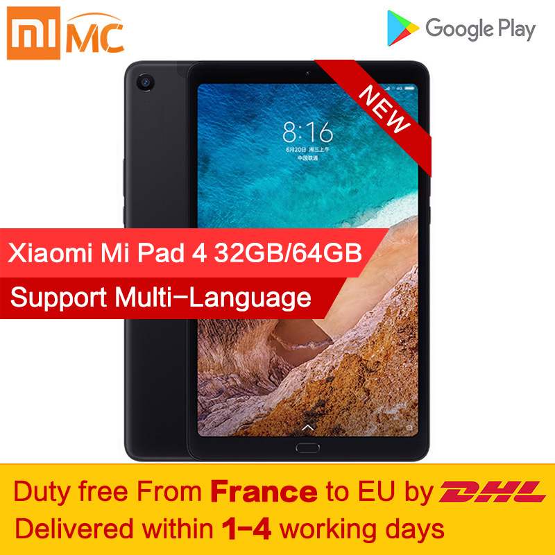 Tax Xiaomi Mi Pad 4 Tablet PC 8.0 Inch MIUI 10 Snapdragon 660 Octa Core 32GB/64GB