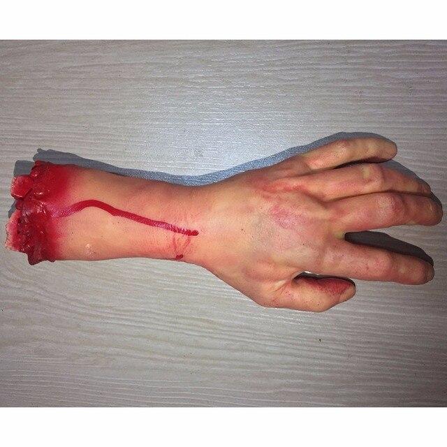 2019 Halloween Horror Props Bloody Hand Haunted House Terror Party Decoration Scary Hand Finger Leg Foot Brain Heart HotSale New