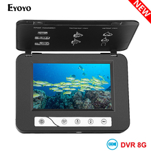 цена на Eyoyo 15M 30M HD 1000TVL Underwater Ice Fishing Camera Video Fish Finder 5