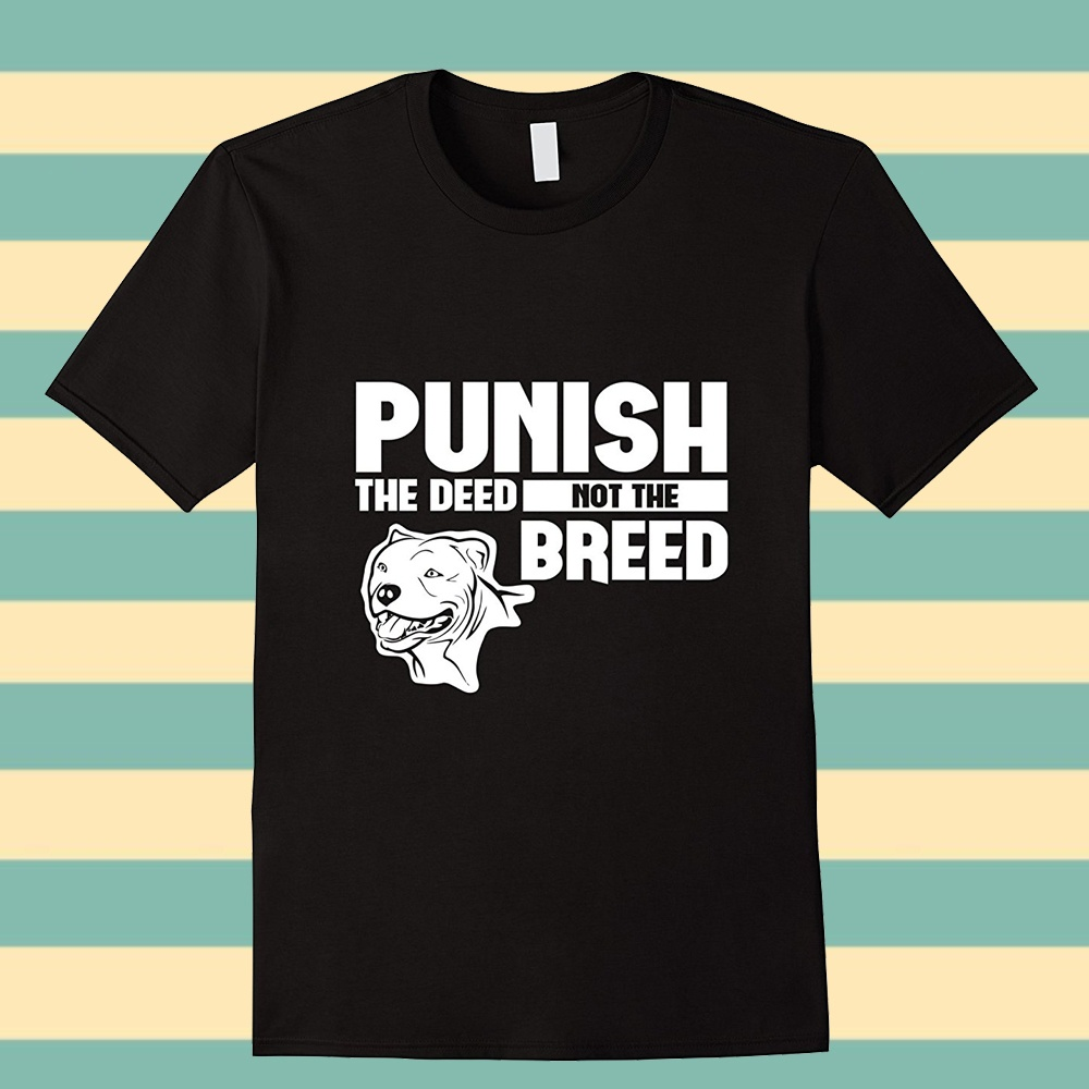 100% Cotton Summer T Shirt Short Sleeve Gift Classic Punish Vintage The Deed Not The Breed T-Shirt Crew Neck Shirts For Men