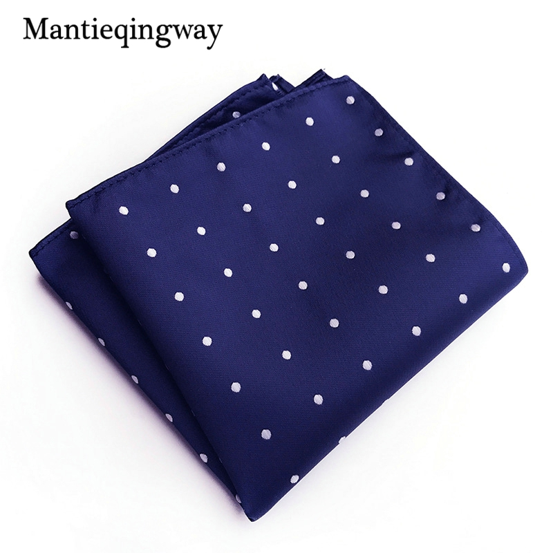 Mantieqingway Small Dots Paisley Handkerchief  For Men Floral Jacquard Pocket Square Wedding Hanky Mens Accessories Suits Gifts