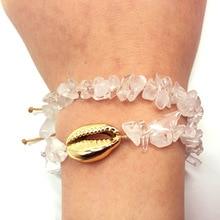 2019 Fashion Copper Seashell Anklet Quartz Bracelet for Women Girl Beach Summer Statement Jewelry Gift
