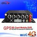 Realtime surveillance 4g network mobile car dvr wifi gps 4ch sd card blackbox mdvr i/o Motion Detection GPS Tracker bus recorder