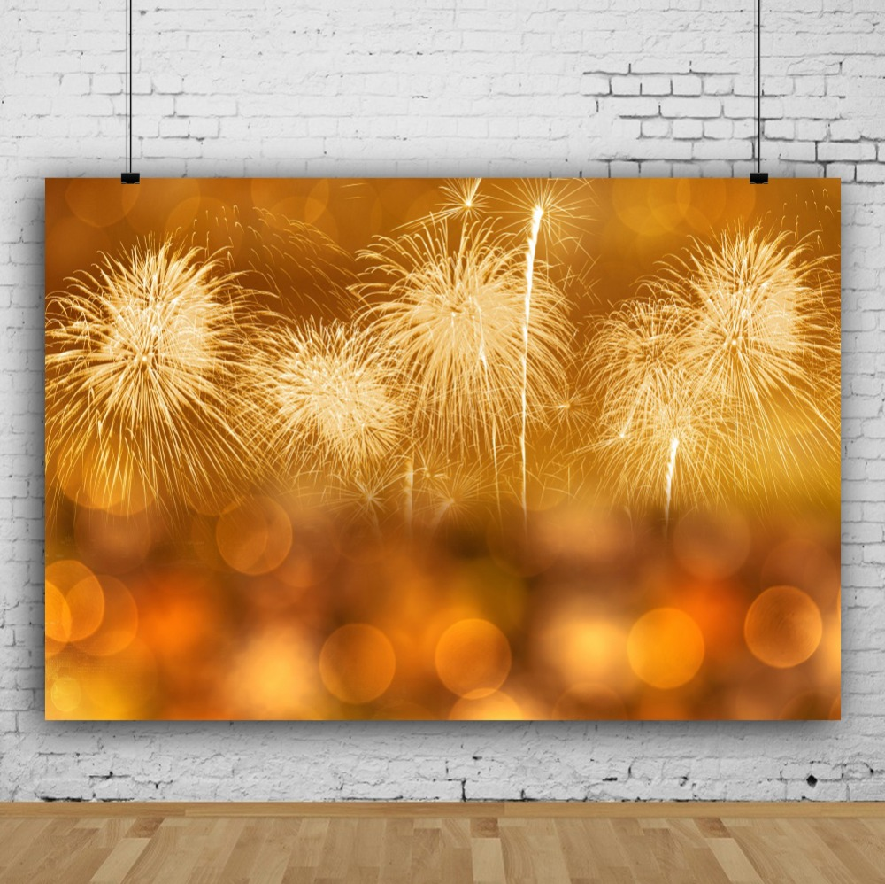 Laeacco Light Bokeh Fireworks Dreamlike Party Celebration Scenic Photographic Backgrounds Photography Backdrops For Photo Studio