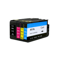 4 Ink Cartridges For HP 950 951 XL With Chip For HP950XL Officejet Pro 8100 8600