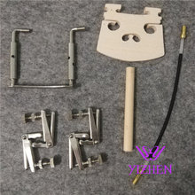 1 Set Brand New High Quality Natural Ebony 4/4 Violin Parts Accessories Tailpiece Chinrest Endpin Violino Accessories