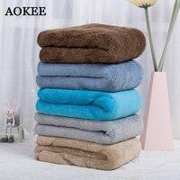 75 150cm Brand AOKEE Microfiber Sport Bath Towel Thick Men Beach Towel Home Bathroom Outdoor Microfibra
