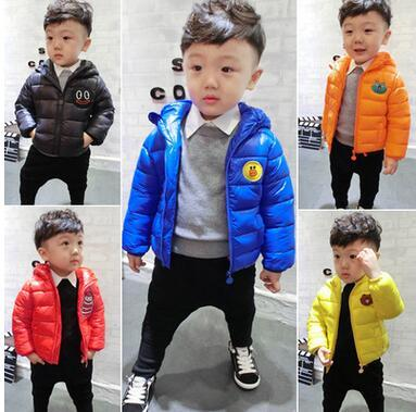 2016 new winter children's cotton sweater candy-colored hand plug cotton light clothing boys and girls 1-5 years free shipping