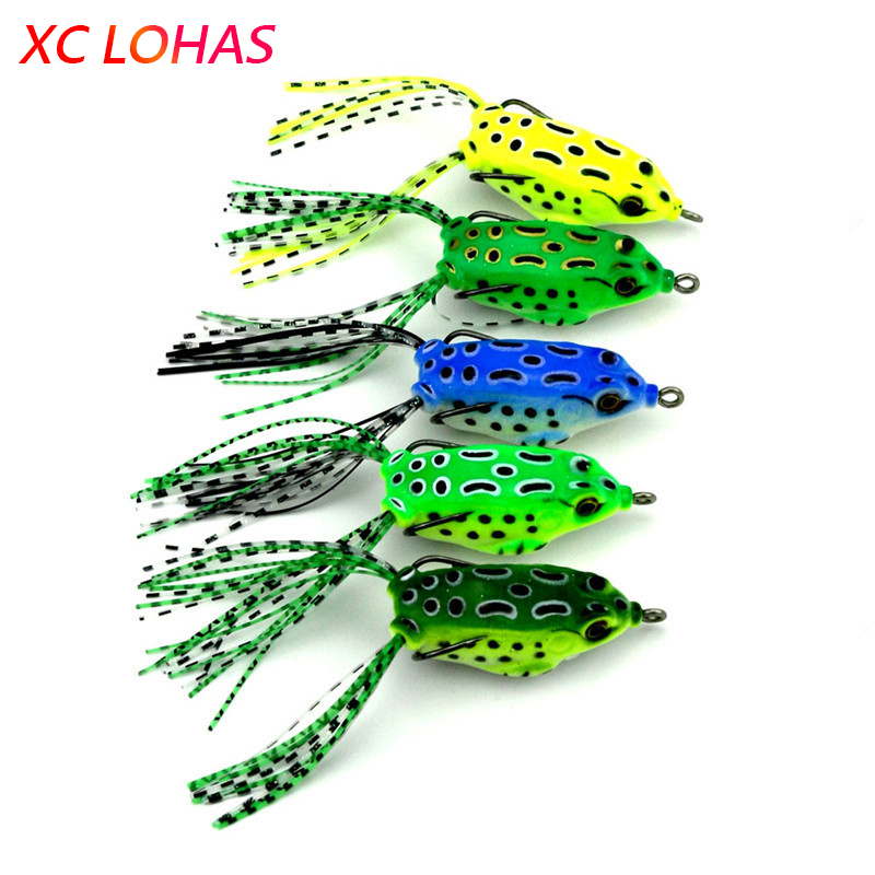 5.5cm 8.2g Mini Soft Rubber Frog Fishing Lure Crank Baits with Hooks Isca Artificial Fishing Lures Black Fish Killer FO004