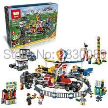 New Lepin 15014 Genuine Street Series The Amusement Park Giant Stride Carnival Set 10244 Building Blocks Bricks Toys new grub street