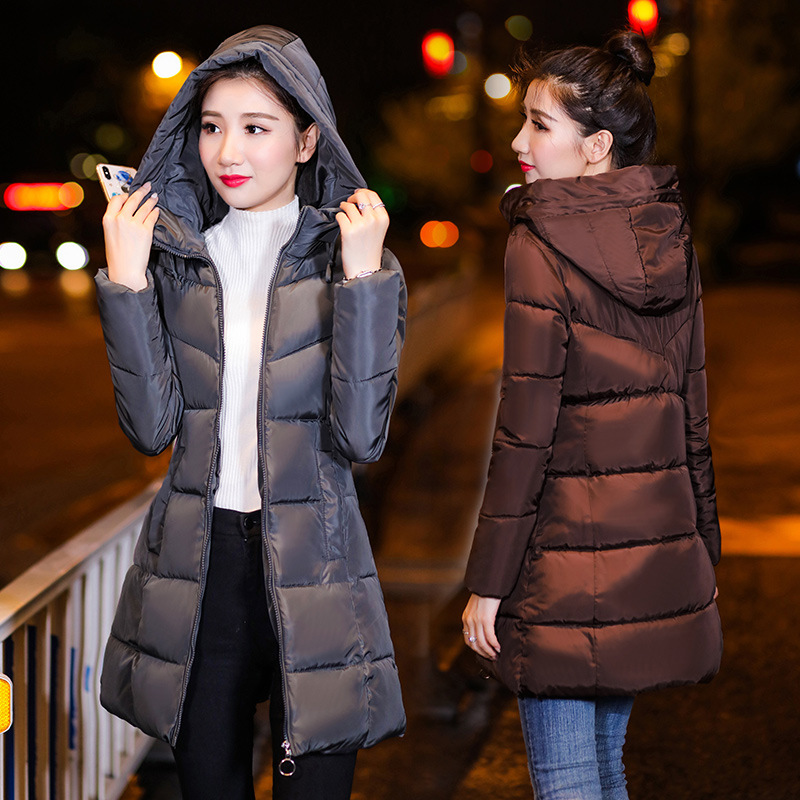 Winner New High Quality Women's Coat Spring Autum Windproof Thin Women   Parka   Long Plus Size Hooded Warm Cotton Jackets