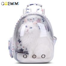 Portable Pet Cat Backpack Transparent Capsule Breathable Bag Outdoor Travel Dog Puppy Carrying Cages