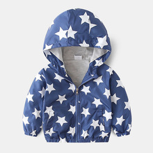 Child clothes Spring autumn new Baby Clothes Jacket Clothes Toddler Baby Boys Outerwear Cartoon Hooded Coats Jackets Tops cheap YANYQXZUO Fashion Polyester COTTON H108 Fits true to size take your normal size Thin (Summer) Full Outerwear Coats Canvas