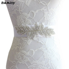 Luxury Bridal Sash Women Handmade Crystal Wedding Belt Elegant Rhinestone Bride Bridesmaid Dress Belts Party Gown Cummerbunds