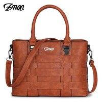 ZMQN Bags Handbags Women Famous Brands Leather Shoulder Designer Handbag Retro Vintage Bag Ladies Tote High