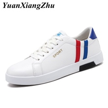 2019 Fashion PU leather Mens Casual Shoes White Men Shoes Mocassin homme Comfortable Breathable Sneakers Men Flats Footwear deification mocassin homme red flower embroidered mens flats loafers velvet slippers comfortable leather shoes men wedding shoes
