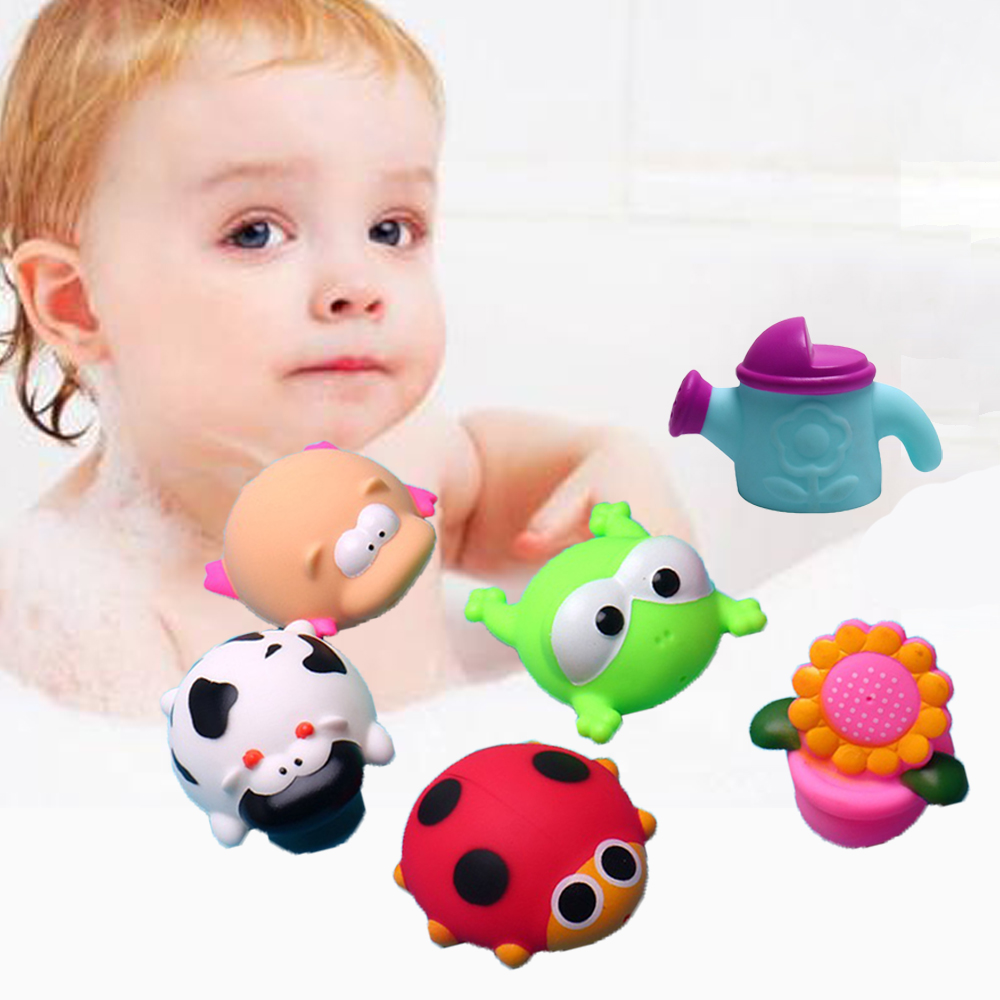 Baby Bath Toys Rubber Duck in Bathroom Shower Game Water ...