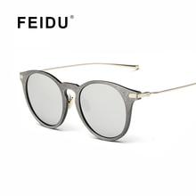 FEIDU 2016 New Arrival Fashion Cat eye Sunglasses Women Brand Design Graining Coating Sun glasses Men Gafas Oculos de sol UV400