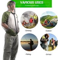 1 Set Anti Mosquito Fishing Clothes Hiking Shirt Suit Quick Dry Mesh Net Fishing Clothing Beekeeping Clothes With Fishing Gloves