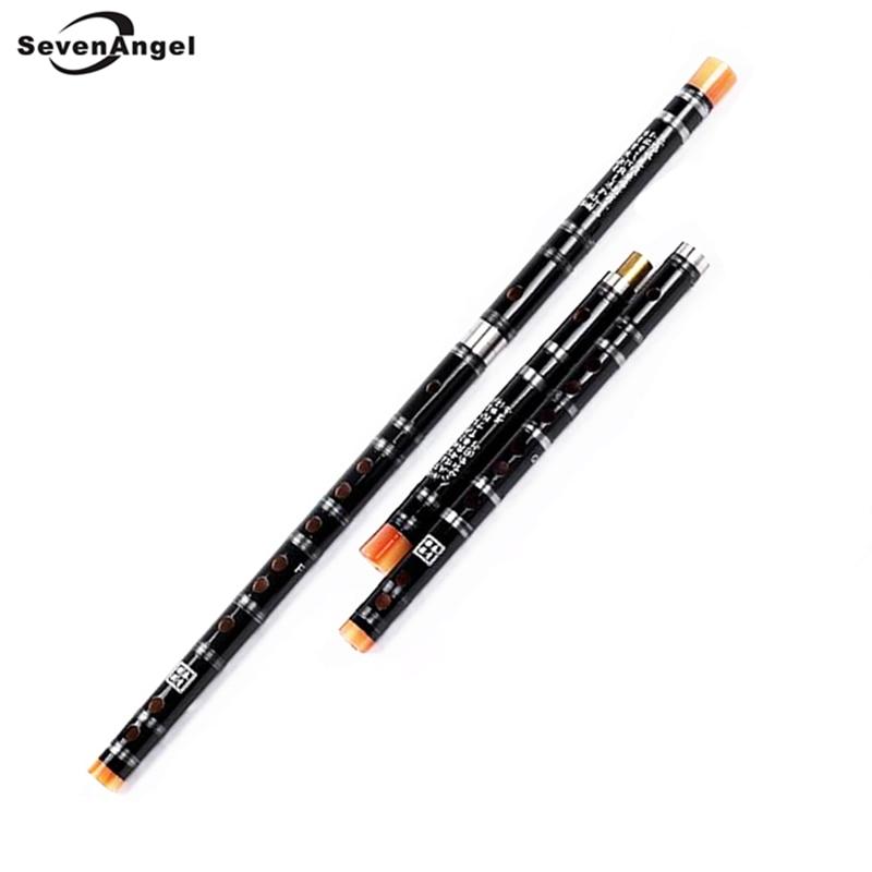 Flauta de bambú chino Blanco Latón Juntas C D E F G Instrumento de viento de madera Instrumentos Musicales Transversales Flauta Dizi Envío gratis