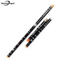 Chinese Bamboo Flute White Brass Joints C D E F G Key woodwind Musical Instruments Transverse Flauta Dizi Free shipping