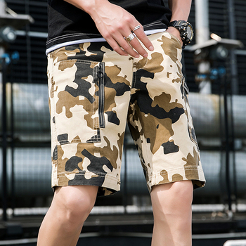 Casual Streetwear Military Cargo Shorts 2019 Summer Men Camouflage Beach Bodybuilding Short Homme Camo