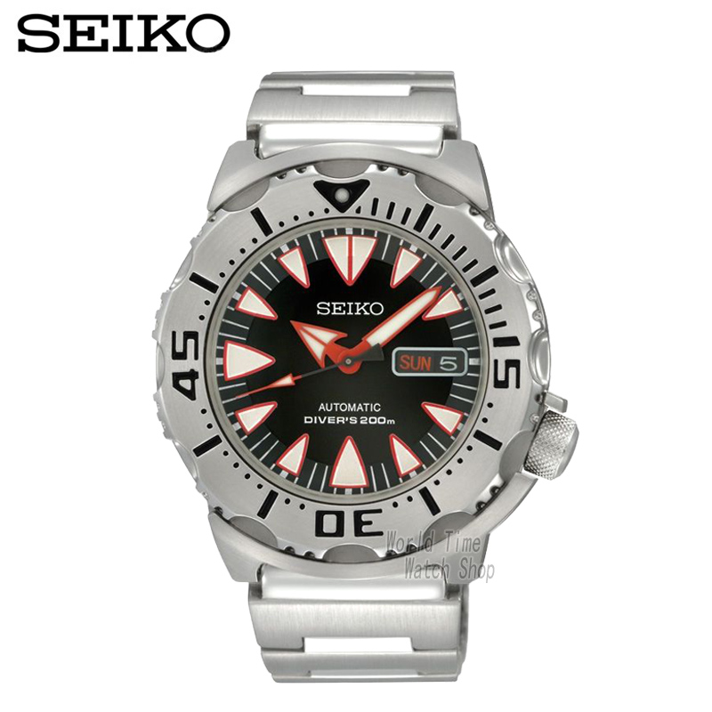 4e94dc46fa8 SEIKO Relógio de aço relógio mecânico automático relógio de mergulho à  prova d  água vermelho água fantasma dente forma masculina SRP313K2 em  Relógios ...
