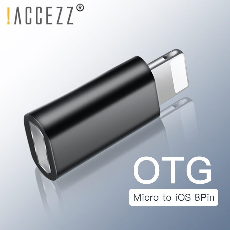 !ACCEZZ Mini Fast Charging Data OTG Micro USB To Lighting Adapter For IPhone X XS XR 6s 7 8 5 Plus XS MAX For IPad Air Converter